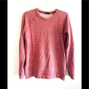GAP Red heathered  pullover w/side zipper detail M